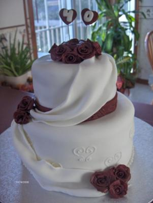 pictures of 40th anniversary cakes. 40th Wedding Anniversary cake. by Kerry Tomlinson (New Brunswick, Canada)