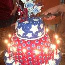 Patriotic Birthday Cakes