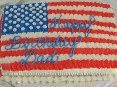 Flag-Shaped 4th of July Cakes