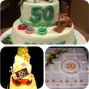 50th Birthday Birthday Cakes