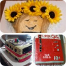 60s Theme Birthday Cakes
