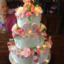 Flowers and Flower Pots and Baskets Birthday Cakes