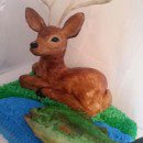 Reindeer and Deer Birthday Cakes