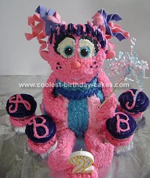 Sesame Street Coloring Pages on Abby Cadabby Sesame Street Cake 1