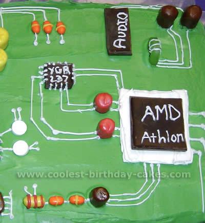 Circuit Board Cake