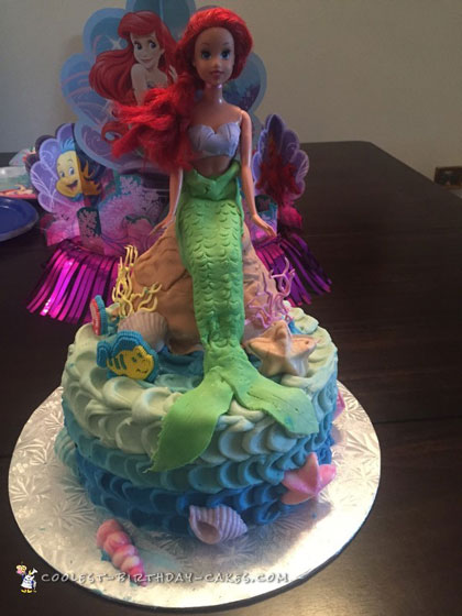 Awesome Ariel Cake