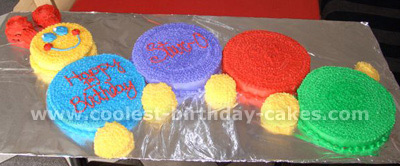Baby Einstein Caterpillar Cake Photo