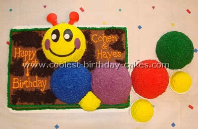 Baby Einstein Caterpillar Cakes