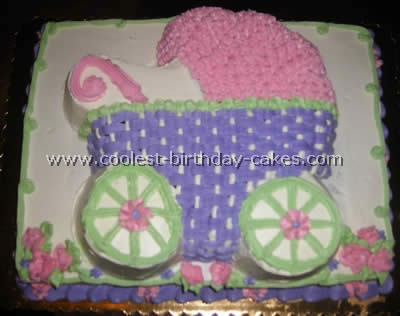 coolest homemade bassinet/stroller cakes, Baby shower invitation