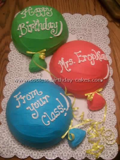 Balloon Birthday Cake Photo