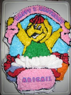 B.J., Barney's friend cake
