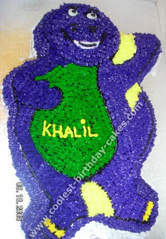 Barney the Dinosaur Cake Picture