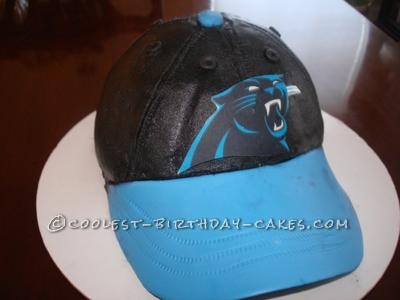 Coolest Carolina Panther Baseball Cap Cake