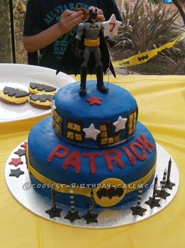 Coolest Batman Birthday Cake for 7 Year Old Boy