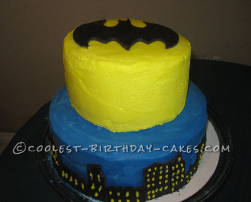 Coolest Two-Tier Batman Birthday Cake