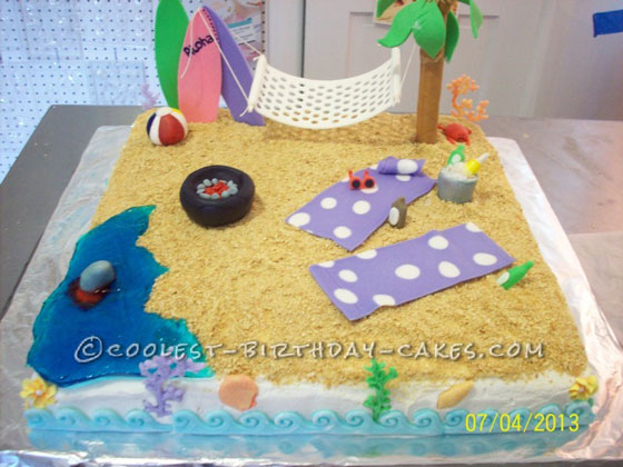 Life is Beachy – 4th of July Cake
