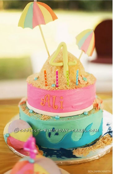 Admirable 12 Cool Beach Birthday Cake Ideas Personalised Birthday Cards Paralily Jamesorg