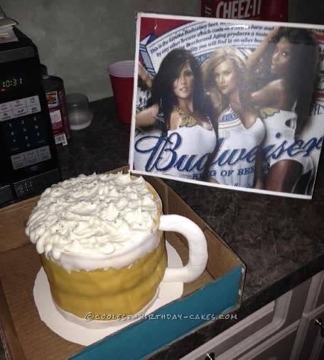 Extra Large Beer Mug Cake