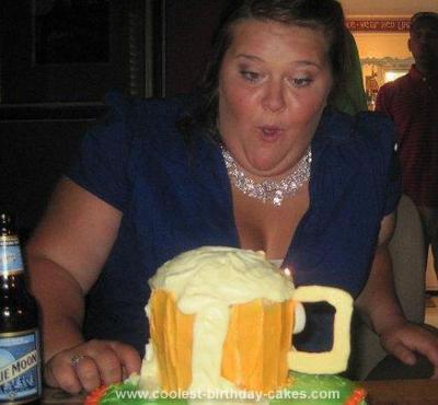 Coolest Beer Mug Birthday Cake