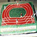 Track and Field Birthday Cakes