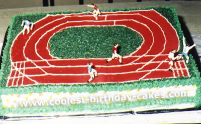 Track and Field Birthday Cake Picture