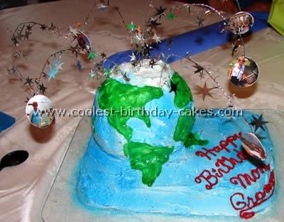 Earth-Shaped Cake