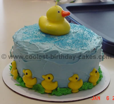 coolest homemade rubber ducky cakes