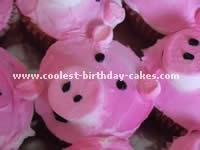 Pig-Shaped Birthday Cake Ideas and Photo