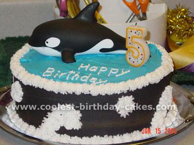Happy Birthday Jan Dolphin Cake