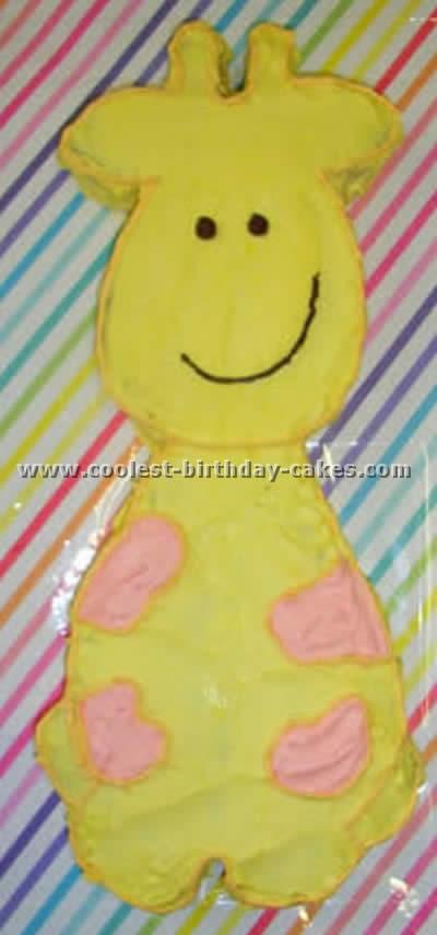 Giraffe Birthday Cake Photo