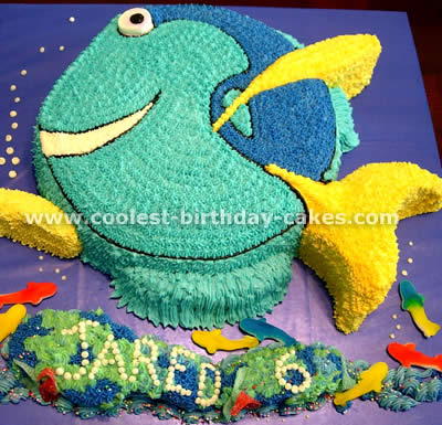 Coolest homemade dory cakes for Nemo cake template
