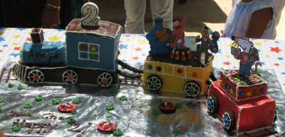 Choo Choo, Ameya is 2 : Birthday Train Cake