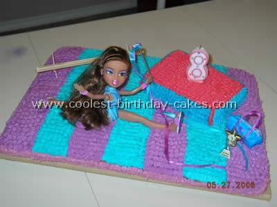 Gymnastics Birthday Cake Decorating Idea