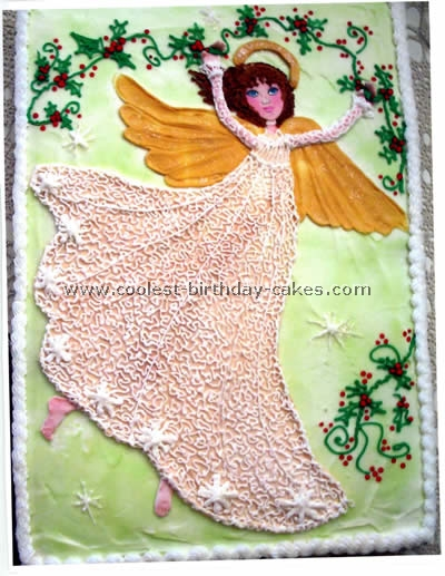 Angel Birthday Cake Designs
