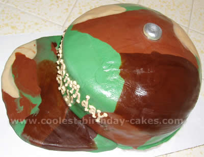 Army Helmet Birthday Cake Idea