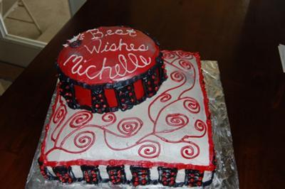 Modern Bridal Shower Cake