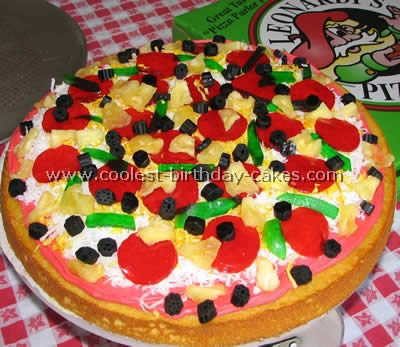 pizza birthday cake pizza cake decorating tips and ideas 6618