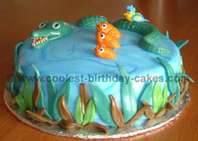 Alligator and Fish Cake Photo