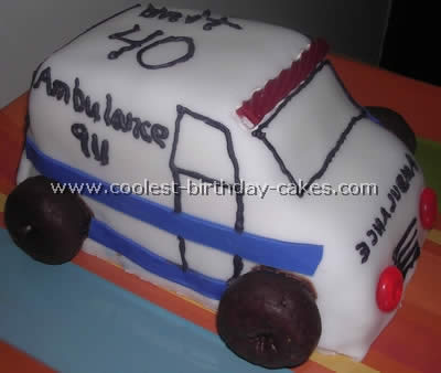 Ambulance Cake Frosting Idea