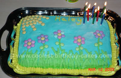 Garden and Insect Kid Birthday Cake Photo