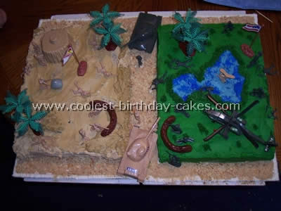 Coolest military birthday cake picture ideas for Army cake decoration
