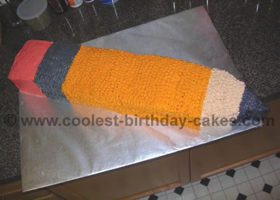 Pencil Cake Decoration