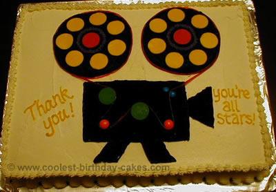 Movie Camera Cake Decoration Idea