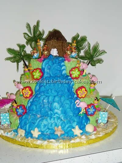 Waterfall Cake Designs