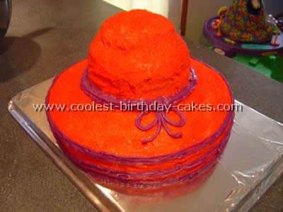 Coolest Bonnet Shaped Birthday Cake Idea And Photos 2