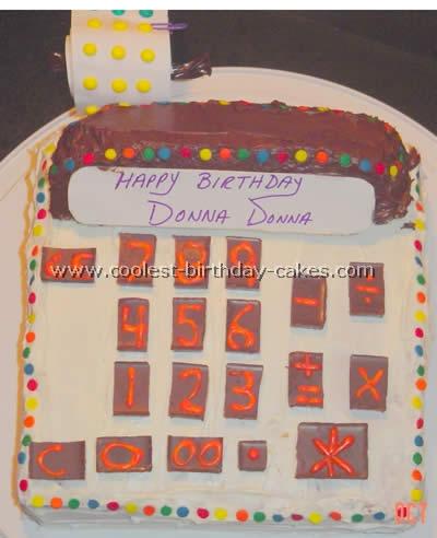 Calculator Cake Photo
