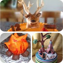 Camping/Outdoors Birthday Cakes
