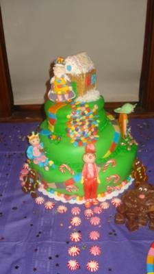 candyland fondant cake