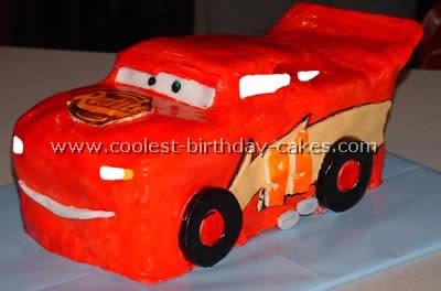 Lightning McQueen Car Birthday Cakes