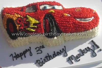 Coolest Homemade Lightning Mcqueen Cakes